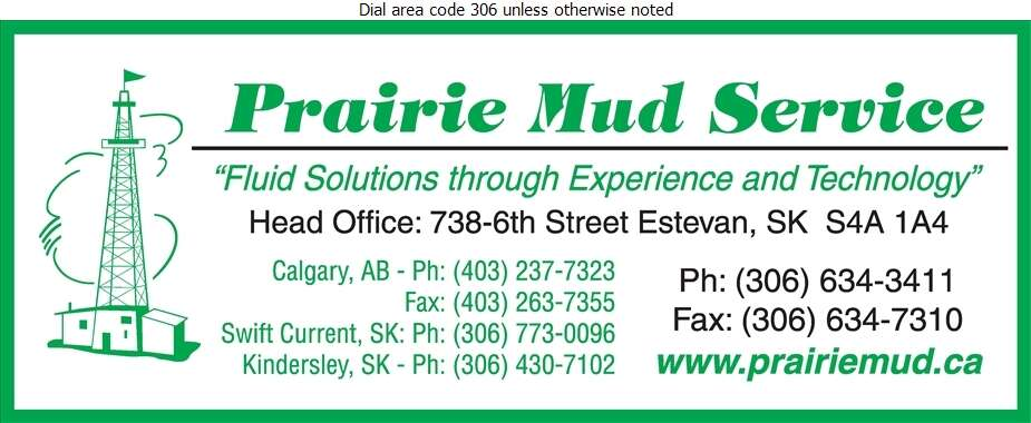 Prairie Mud Service (Fax) - Oil & Gas Exploration Digital Ad