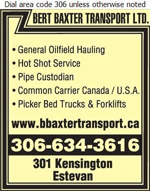 Bert Baxter Transport Ltd (Todd) - Oil & Gas Well Transportation Digital Ad