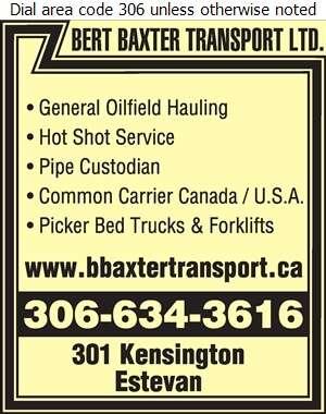 Bert Baxter Transport Ltd (Todd) - Trucking Digital Ad