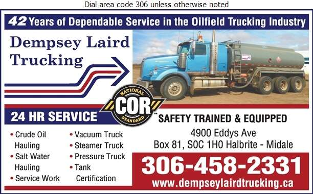 Dempsey Laird Trucking Ltd - Trucking Digital Ad