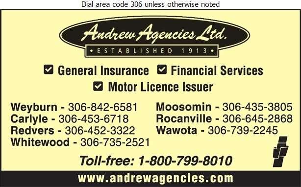 Andrew Agencies Ltd - Insurance Digital Ad