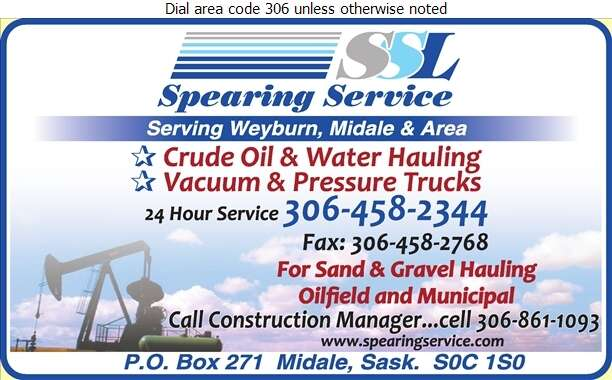 Spearing Service LP (Fax) - Trucking Digital Ad