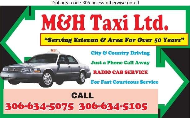 M & H Taxi Ltd - Taxicabs Digital Ad