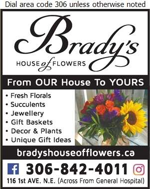 Brady's House Of Flowers - Florists Retail Digital Ad