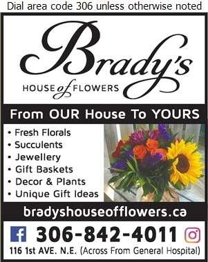 Brady's House Of Flowers - Florists Retail Digital Ad