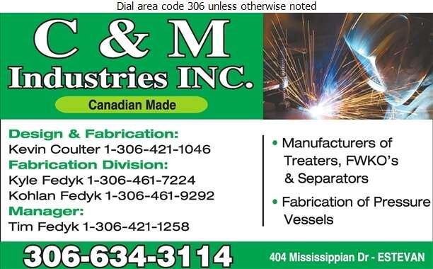 C&M Industries Inc - Oil & Gas Well Equipment & Supplies Digital Ad