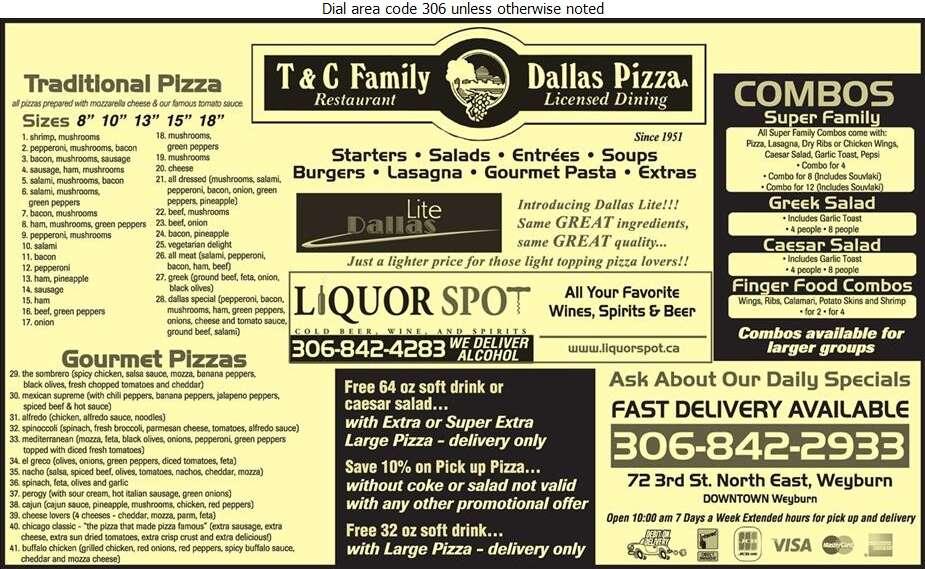 Town N Country Dallas Pizza (Liquor Spot) - Pizza Digital Ad