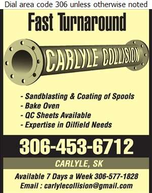 Carlyle Collision & Painting Ltd - Sandblasting Digital Ad