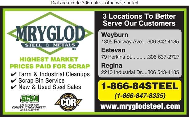Mryglod Steel & Metals Inc - Scrap Metals Digital Ad