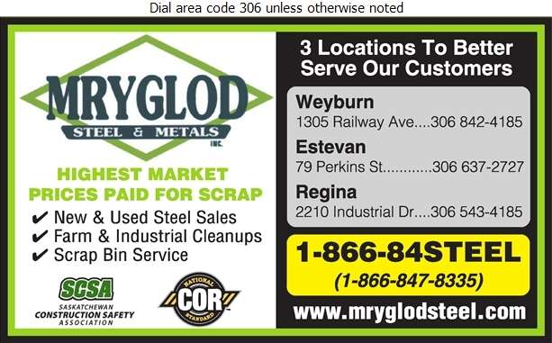 Mryglod Steel & Metals Inc - Steel Digital Ad