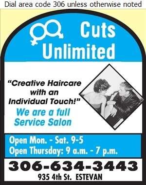 Cuts Unlimited - Beauty Salons Digital Ad