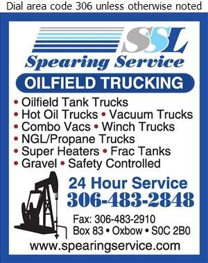 Spearing Service L P - Trucking Digital Ad