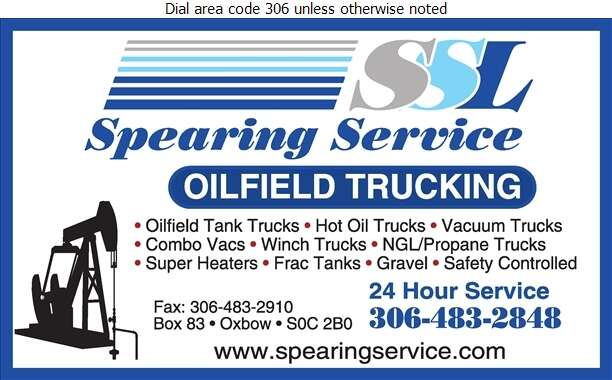 Spearing Service L P - Oil & Gas Well Transportation Digital Ad