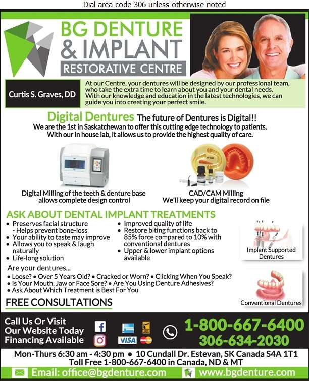 BG Denture & Implant Restorative Centre - Denturists Digital Ad