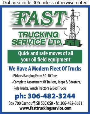 Fast Trucking Service Ltd (Tony Day) - Oil & Gas Well Transportation Digital Ad