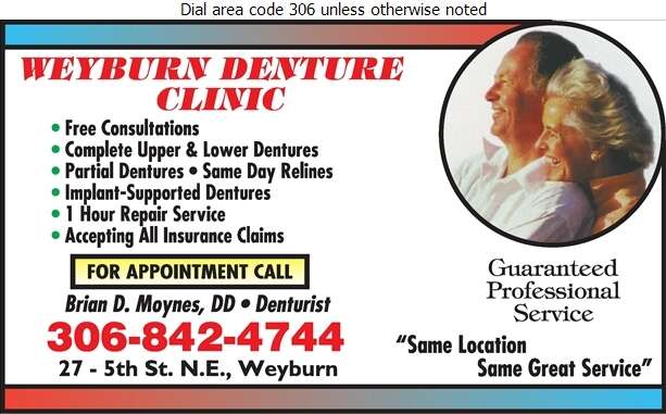 Weyburn Denture Clinic - Denturists Digital Ad