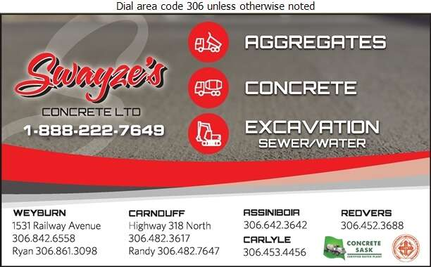 Swayze Concrete Ltd - Sand & Gravel Digital Ad