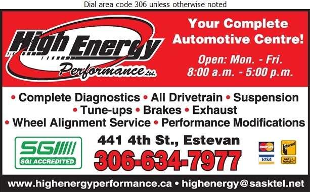 High Energy Performance - Auto Repairing Digital Ad