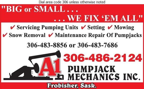 A-1 Pump Jack Mechanics - Oil & Gas Well Service Digital Ad