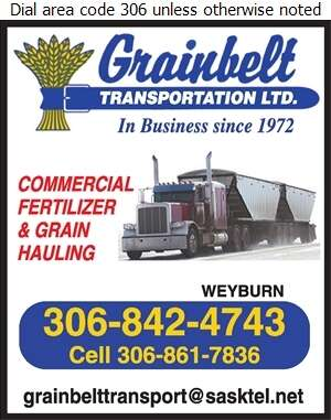 Grainbelt Transport Ltd - Trucking Digital Ad