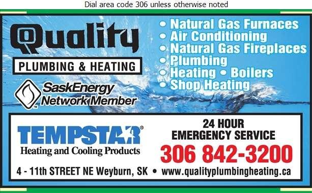 Quality Plumbing & Heating - Plumbing Contractors Digital Ad