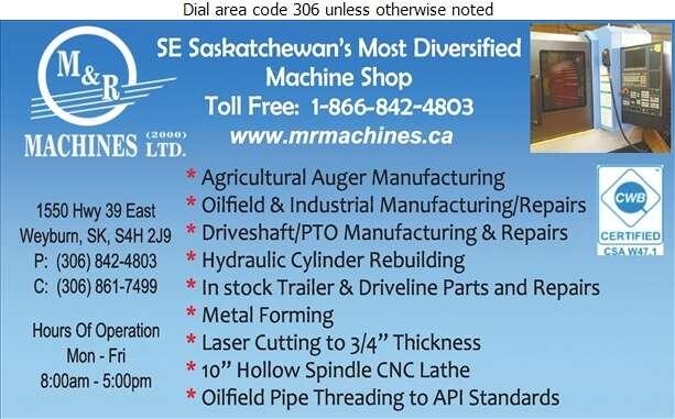 M & R Machines (2000) Ltd - Machine Shops Digital Ad
