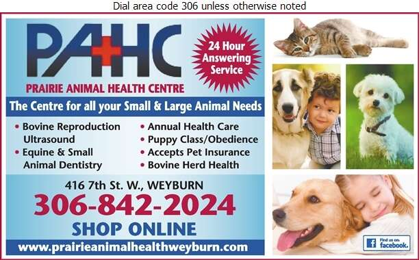 Prairie Animal Health Centre - Veterinarians Digital Ad