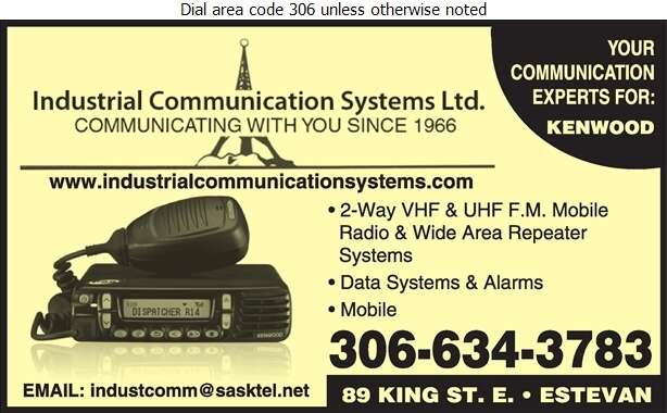 Industrial Communication Systems Ltd - Radio Communication Equipment & Systems Digital Ad