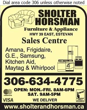 Sholter & Horsman Furniture & Appliances - Appliances Major Sales, Service & Parts Digital Ad
