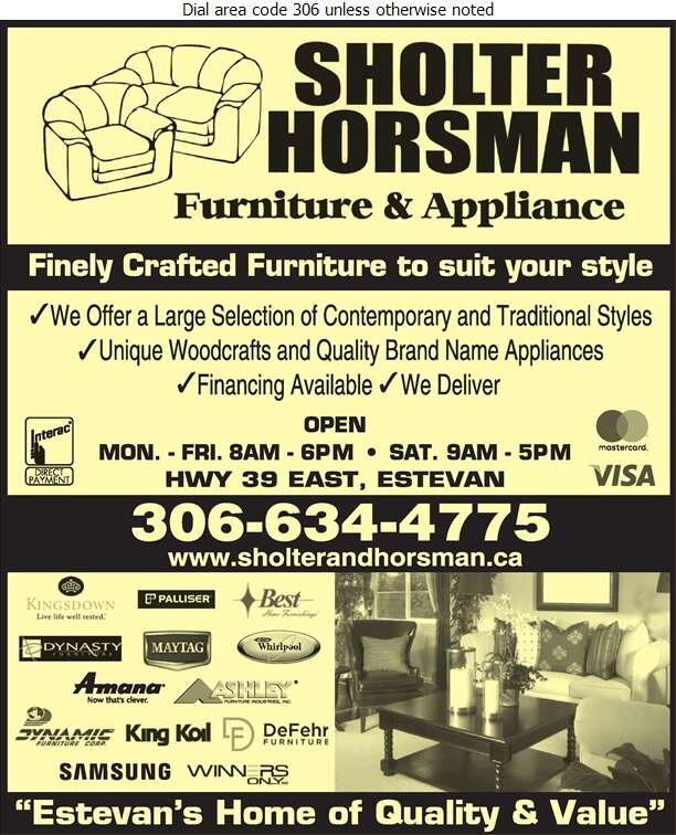 Sholter & Horsman Furniture & Appliances - Furniture Dealers Retail Digital Ad