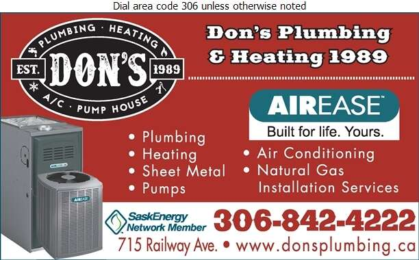Don's Plumbing & Heating 1989 - Plumbing Contractors Digital Ad