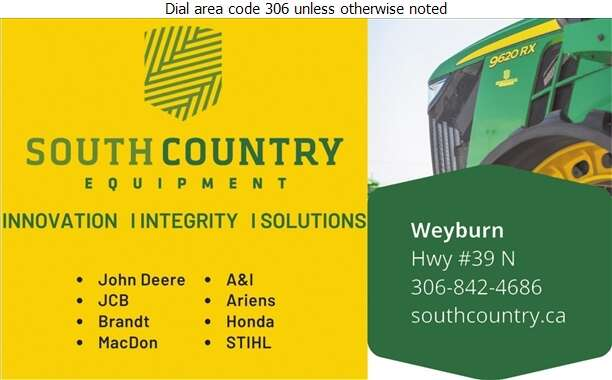 South Country Equipment Ltd - Agricultural Implements Sales, Service & Parts Digital Ad
