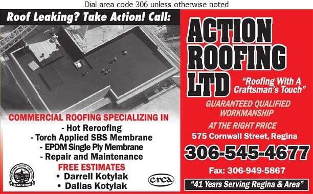 Action Roofing Ltd - Roofing Contractors Digital Ad