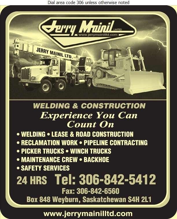 Jerry Mainil Ltd - Oil & Gas Well Service Digital Ad