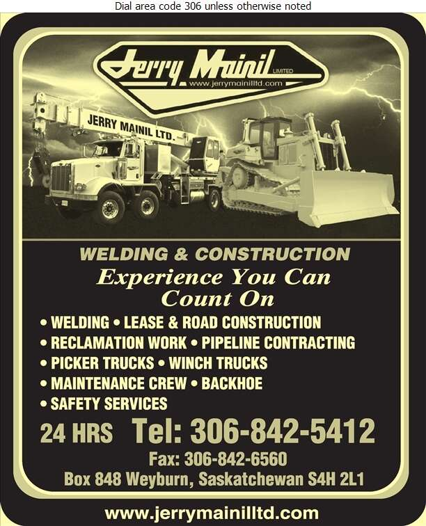 Jerry Mainil Ltd - Oil & Gas Well Service Digital Ad