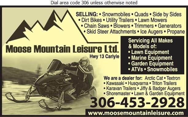 Moose Mountain Leisure Ltd - Snowmobiles Digital Ad