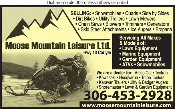 Moose Mountain Leisure Ltd - Trailers Auto, Boat, Utility, Etc Digital Ad