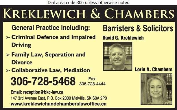 Bell Kreklewich & Chambers - Lawyers Digital Ad