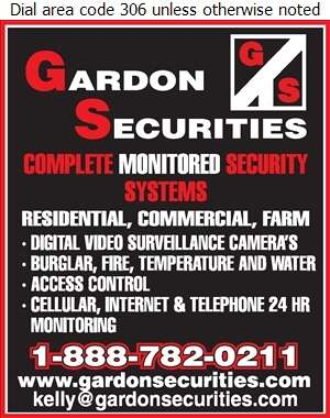 Gardon Securities - Security Systems Digital Ad