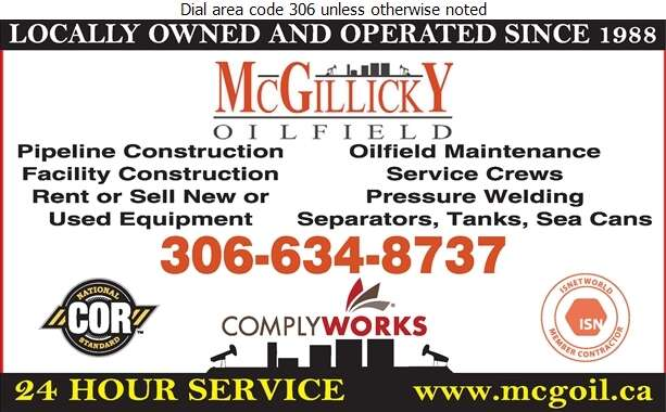 McGillicky Oilfield (Darcy McGillicky) - Oil & Gas Well Service Digital Ad