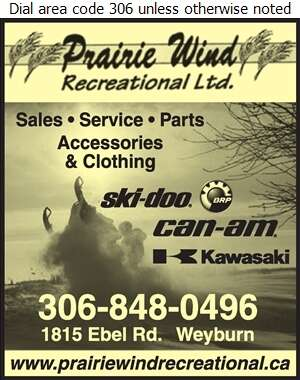 Prairie Wind Recreational Ltd (Ski-Doo & Can-am Dealer) - Snowmobiles Digital Ad