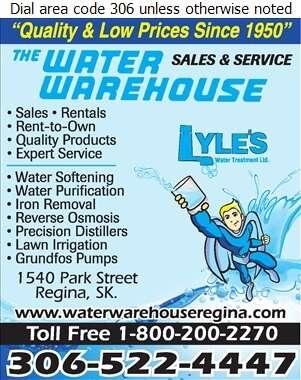 Water Warehouse - Water Softening Equipment Service & Supplies Digital Ad