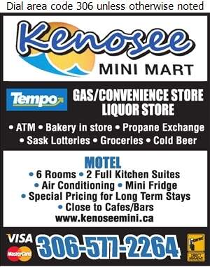Kenosee Mini Mart & Motel - Motels Digital Ad
