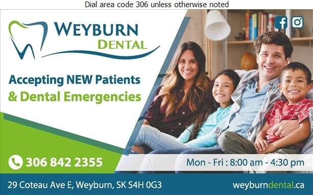 Weyburn Dental Clinic - Dentists Digital Ad