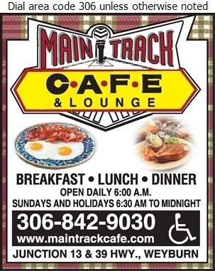 Main Track Cafe - Restaurants Digital Ad