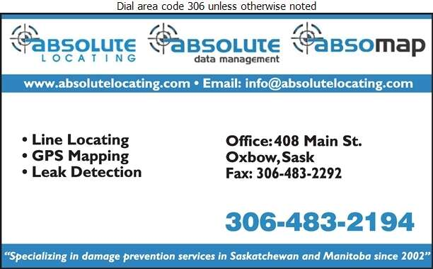 Absolute Locating (Office) - Oil & Gas Well Service Digital Ad