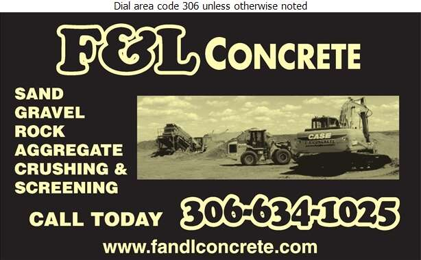 F & L Concrete Services - Sand & Gravel Digital Ad