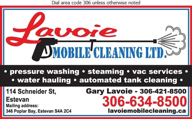 Lavoie Mobile Cleaning Ltd - Steam Cleaning Industrial Digital Ad