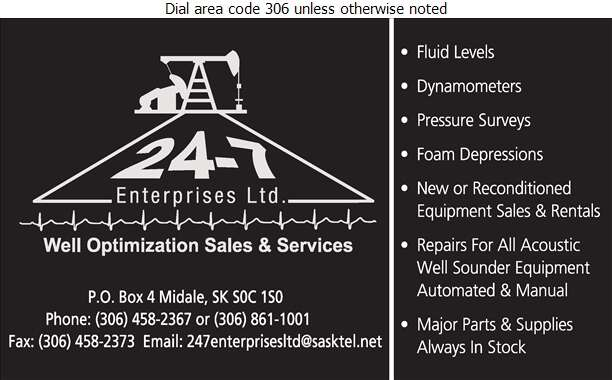 24-7 Enterprises Ltd - Oil & Gas Well Service Digital Ad