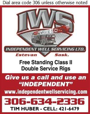 Independent Well Servicing Ltd (Vas Vilcu (Rig #3)) - Oil & Gas Well Service Digital Ad